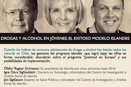 Profesores asisten a charla acerca del exitoso modelo Islandés que logró reducir el consumo de alcohol y droga en jóvenes