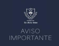 Información sobre suspensión de clases