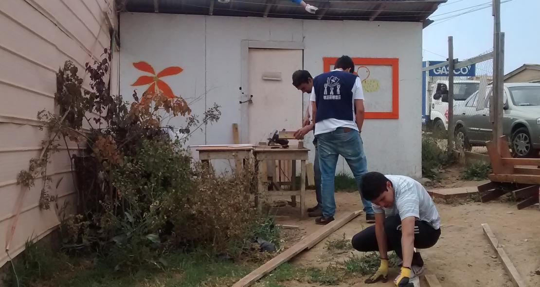 """CAS construyó techo para """"Fe y Esperanza"""""""